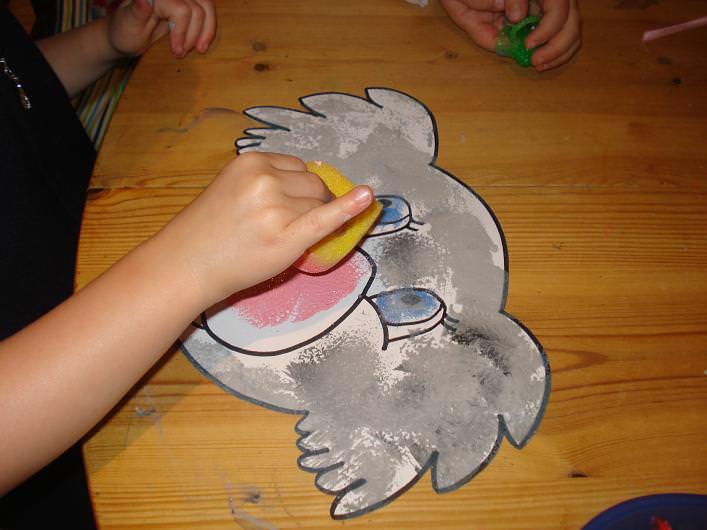 Sponge painting Animals